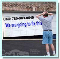 780-909-0549: Garage Doors Repairs, Springs, Cables, Openers