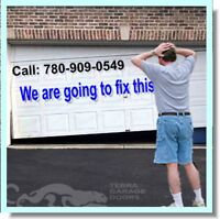 780-909-0549: Garage Doors Repairs, Springs, Cables, Openers