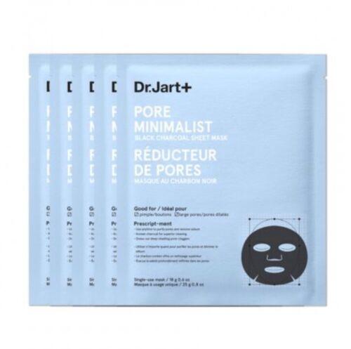 Set of 5 Dr Jart + Pore Minimalist Black Charcoal Sheet Mask