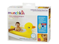 Munchkin inflatable safety duck baby bath suitable from 6 months