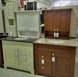 CLEARANCE SALE - SOLID WOOD - FLOOR MODELS CABINET / VANITY