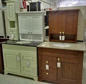 SOLID WOOD FLOOR MODELS CABINET / VANITY - CLEARANCE SALE