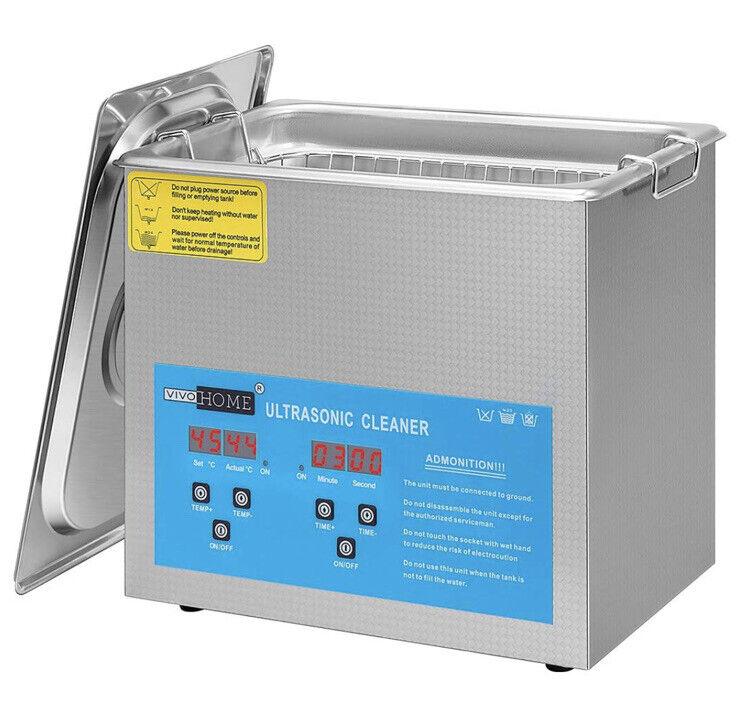 3L Professional Digital Ultrasonic Cleaner Machine Timer Heated US - No basket