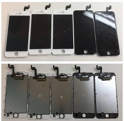 Lot of 10 APPLE OEM iPhone 6S Cracked Screens WORKING TOUCH AND LCD!!