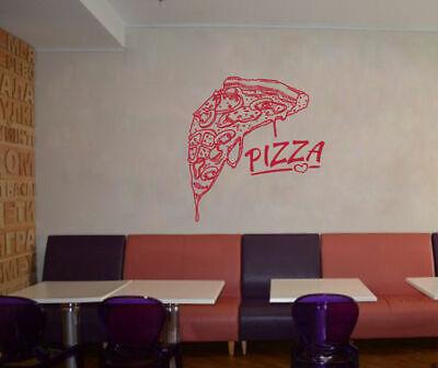ik1053 Wall Decal Sticker Pizza Slice Italian Restaurant Pizzeria Kitchen decor  - Pizzeria Decor