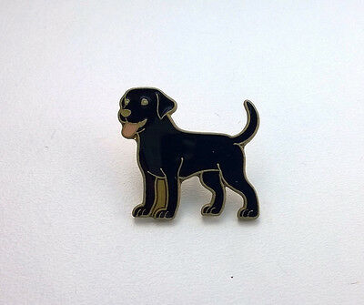 BLACK LABRADOR DOG ENAMEL PIN BADGE NEW