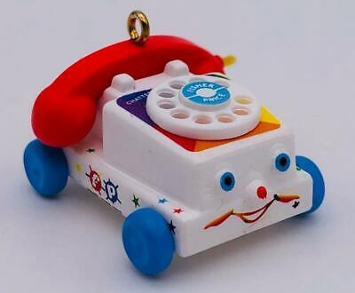 2017 Tiny Chatter Telephone Hallmark Miniature Ornament Fisher Price