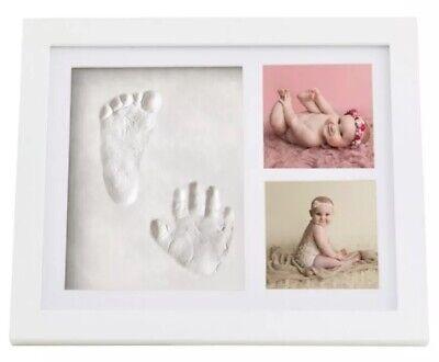 Premium Clay Baby Footprint & Handprint Picture Frame Kit -Best Baby Shower - Best Baby Shower