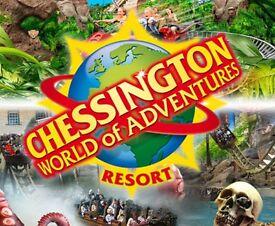 6 x chessington tickets 18th July £90