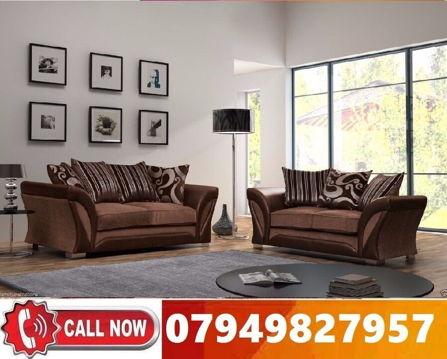 50% Off BRAND NEW CORNER FABRIC SOFA SUITE IN LEATHERETTE STYLEin Forest Hill, LondonGumtree - Specifications Brand New High Quality Chenille Fabric Hardwood Frame Chrome Legs Foam Seats Dimensions Depth 75cm Height 75cm Width 230cm x 230cm 3 Seater Width 205cm 2 Seater Width 180cm Corner Sofa 359 3 2 Seater Sofa 359