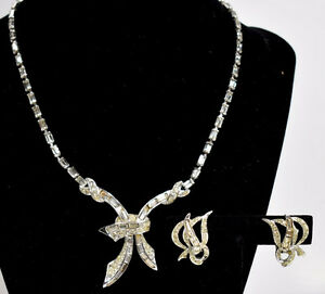 Marcel Boucher signed Collar Necklace #7304 & Earrings #5809