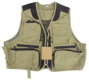 deluxe fishing vests, back cover removable, size S and M