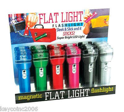Flash Light Magnetic Flat Flashlight LED 1/4 inch thick sleek and slick ](Flat Flashlight)