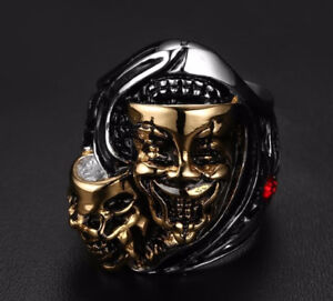 Theater Masks Ring - Size 10