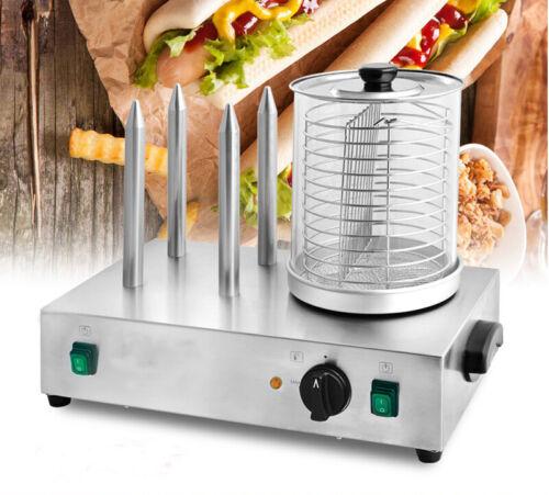 PreAsion Hot Dog Steamer and Bun Warmer (30 Hot Dog / 4 Bun Capacity)-110V, 300W