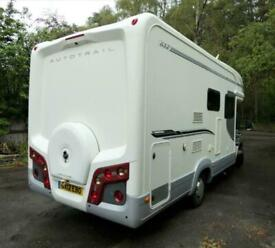 Auto Trail Apache 632, fixed and drop down double beds, 2 x TV's, Garage
