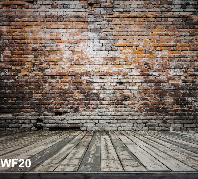 6x9ft Polyester Brick Wall Floor Studio Backdrop Photography Background Washable