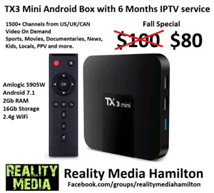 Android Box w/6 Months IPTV Service