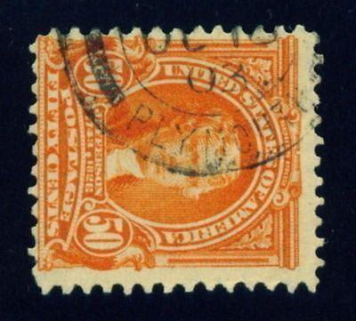 310 ( 50c Jeff ) ENGLAND / GB / UK Cancel 1903 - PACKET BOAT / SHIP ?