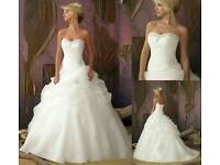 Wedding dress and hoop