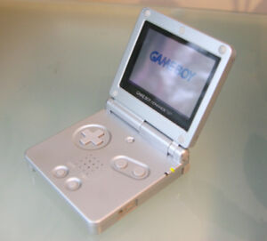 GAMEBOY SP  advance  SILVER NINTENDO. NEW  MINT