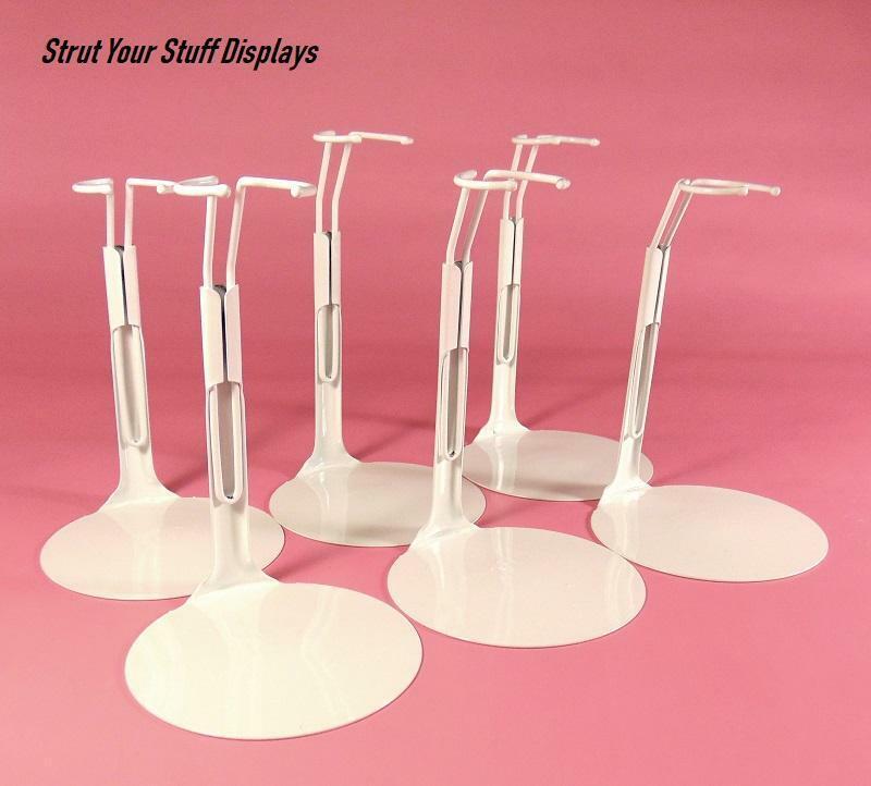 """6 indv KAISER #20SM WHITE Stands. NEW. Fit 7""""- 8"""" tall dolls  BRATZ, RORUKO"""