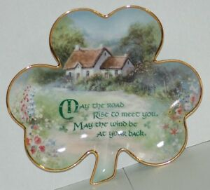 Franklin Mint Shamrock Plate