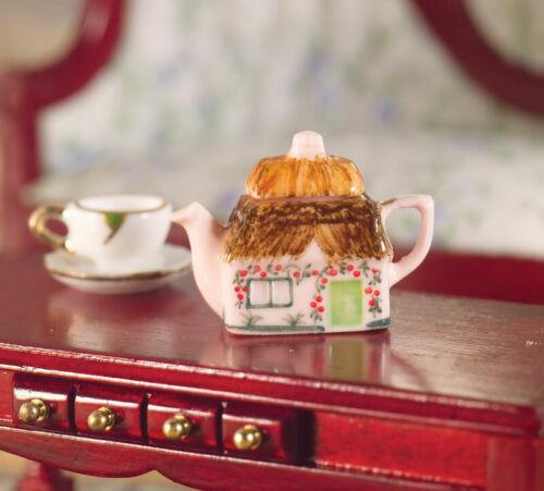 Dollhouse Miniature Cottage Teapot