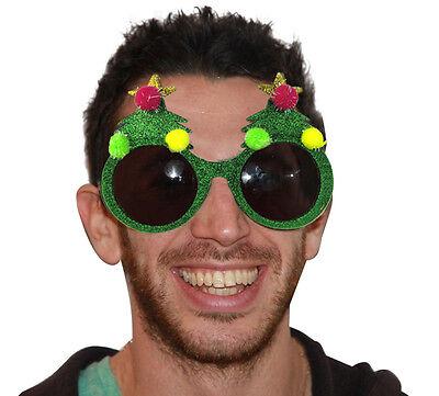 Christmas Costume Party Unisex Decor Prop Xmas Tree Sunglasses Photos Glasses