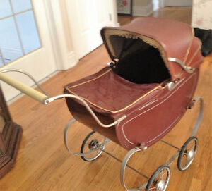 65 year old vintage doll carriage