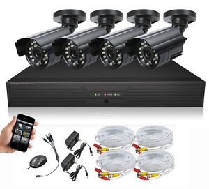 OPENBOX Surveillance Cameras dvr kit, READY TO USE security camera  syetem with 4 Cameras-no hard drive included