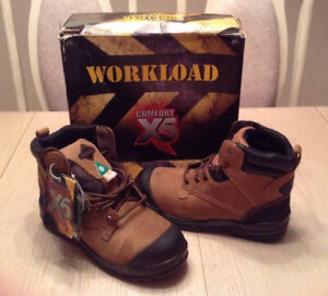 Safety Steel Toe Work Boots... Size 8 Wide -  NEW