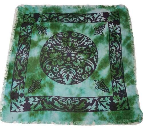 """Greenman Altar Cloth 18"""" x 18"""" Wiccan Witchcraft Supply Store"""