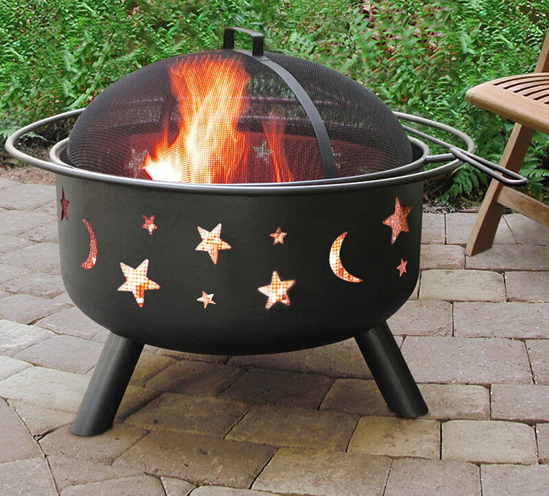 Portable Metal Fire Pit : Day to night top summertime fire pits ebay