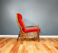 1960's Vintage Scandinavian Teak Recliner Lounge Chair