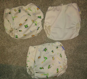 3 MotherEase water proof diaper covers, size M (7 - 14 kg)