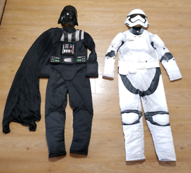 Darth vader and storm trooper star wars fancy dress costumes