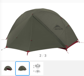 MSR Elixir 1 Tent - Olive Green- One Person Lightweight Tent Hiking Ba
