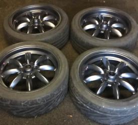 """Rota RKR 17""""x7.5j 4x100 et45 Alloy Wheels (Honda Civic, Vauxhall, VW)"""