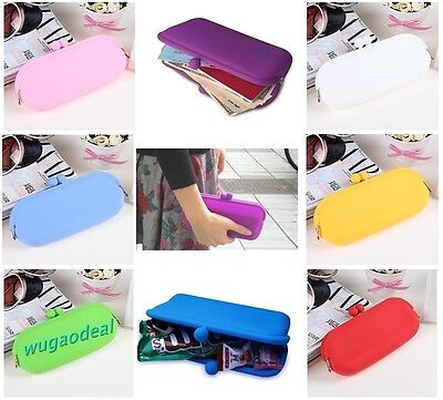 1 Pc 12 Color Beautiful Lovely Candy Color Silicone Coin Purse Glasses Bag