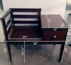 Bench with drawer