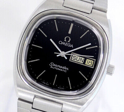 VINTAGE OMEGA SEAMASTER AUTOMATIC CAL1020 DAY&DATE BLACK DIAL MEN