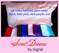 Luxury Satin Pillow Cases - Queen Size $30.00 each delivered