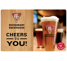 Buy a $50  BJ's Restaurants Gift Card and get $10 code (1 card $60 value)- Email