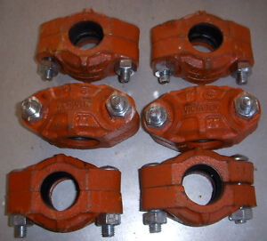various vitraulic couplers and stainless steel pipe and fittings