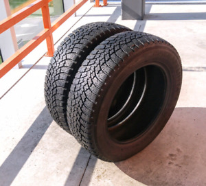 Set of two 185/65/15 Nokian all season tires. 8/32nd tread