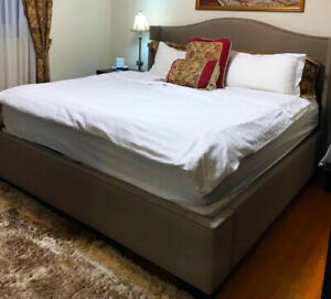 Upholstered Bed - King size - Excellent condition