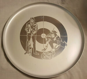 CURLING THEMED METAL DRINK SERVING TRAY - SPORTS THEME BARWARE
