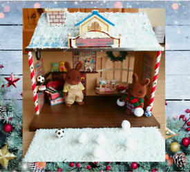 Sylvanian Families winter Christmas Toy Shop with Figures