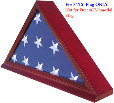 3' x 5' Flag Display Case Flag holder box, NOT for Memorial/FUNERAL flag FC35-CH